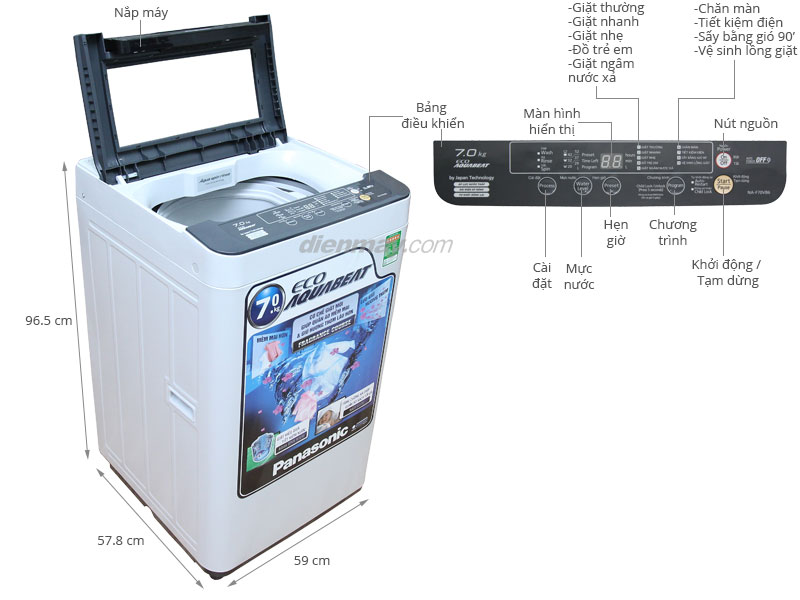 máy giặt panasonic-na-f70vb6hdk giá rẻ