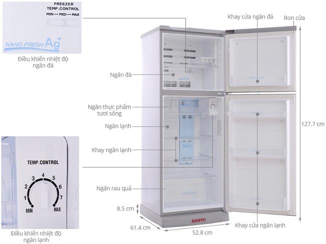 tủ lạnh sanyo giá rẻ phcm