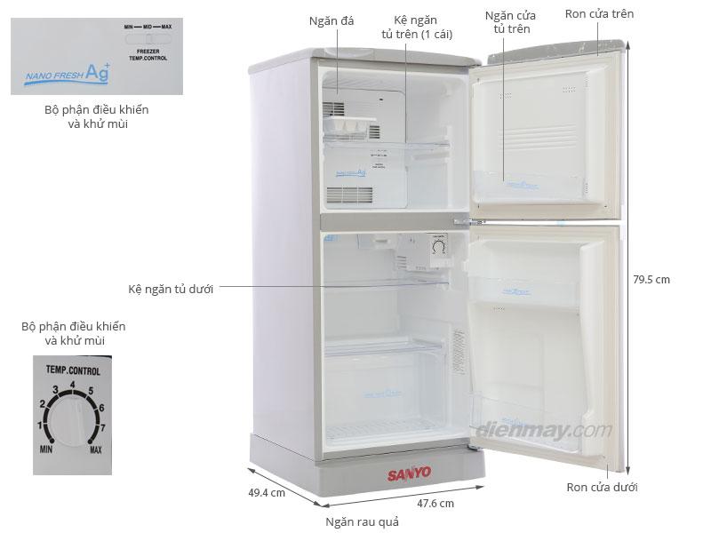 tủ lạnh sanyo 110l
