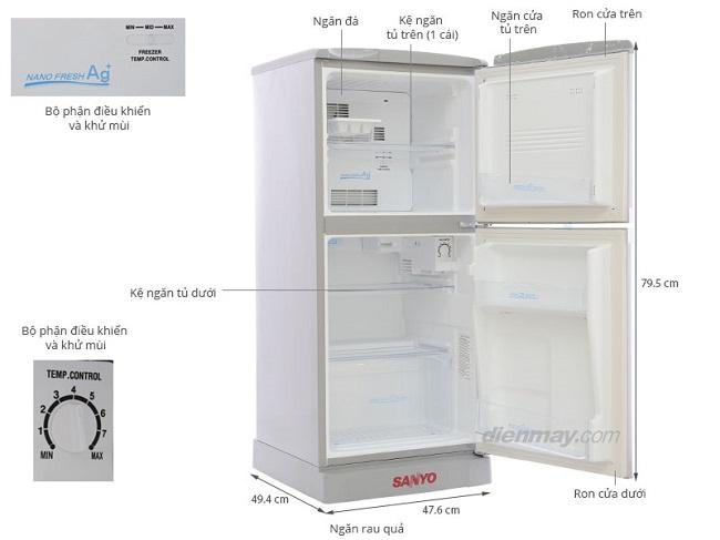 tủ lạnh sanyo sr 125r
