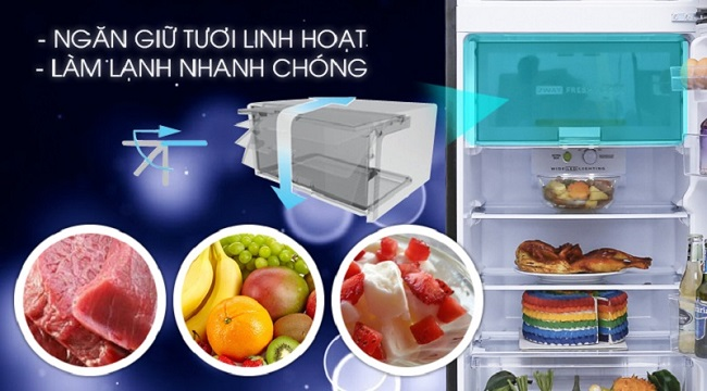tủ lạnh sharp-sj-x251e-sl-14