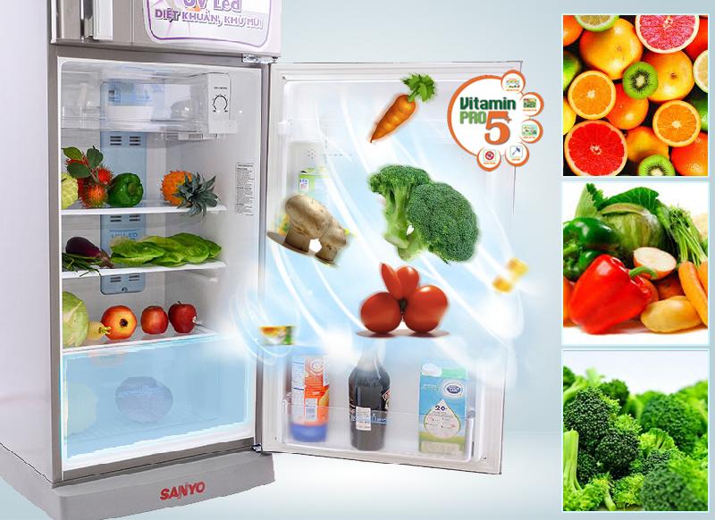 tủ lạnh sanyo đẹp