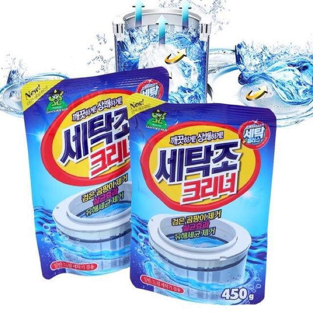 vệ sinh máy giặt hiệu quả bằng bột