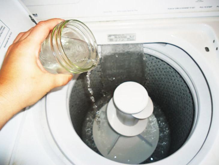 vệ sinh máy giặt hiệu quả bằng giấm, nước javen